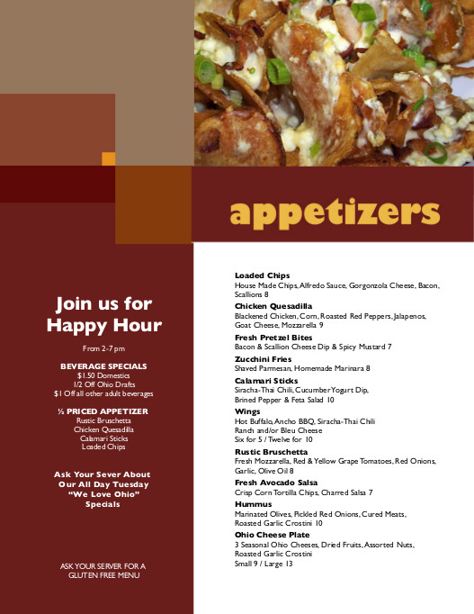 Local Roots Menu - Happy Hour & Appetizers